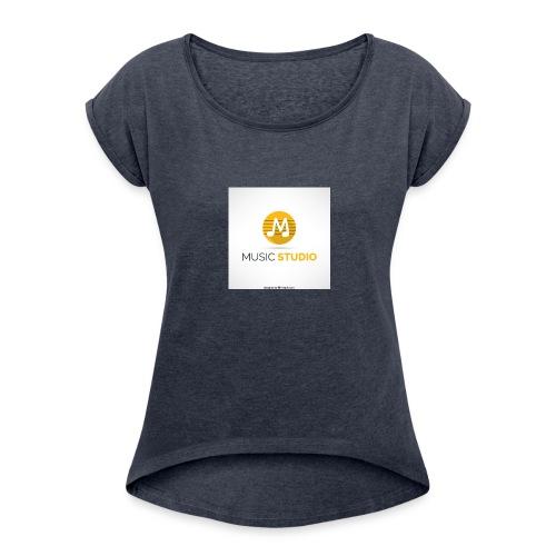 prosductos music studios - Women's Roll Cuff T-Shirt