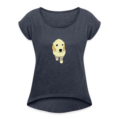 Golden Retriever puppy - Women's Roll Cuff T-Shirt