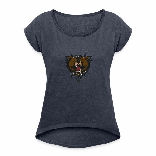 Ellipsism Bear - Women's Roll Cuff T-Shirt