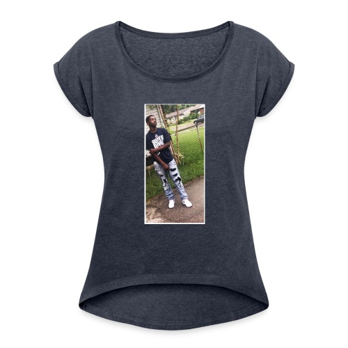 BBA3F673 31D8 45F2 B513 16B143FB4A41 - Women's Roll Cuff T-Shirt