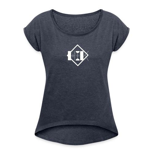 Hey it's Kiara merch - Women's Roll Cuff T-Shirt