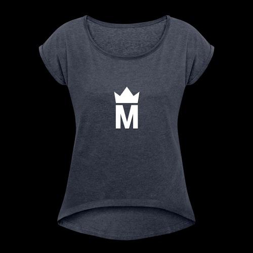 White Majesty Logo - Women's Roll Cuff T-Shirt