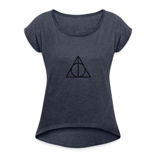 Deathly Hallows - Women's Roll Cuff T-Shirt