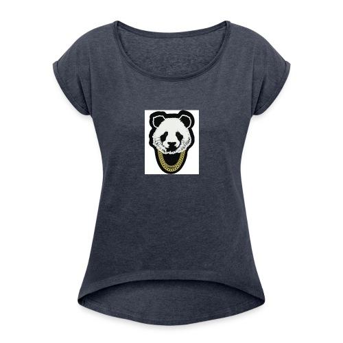 panda3.1 - Women's Roll Cuff T-Shirt