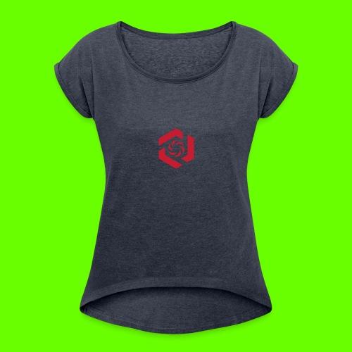 Temporary Logo Design - Women's Roll Cuff T-Shirt