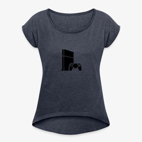Logo PS4 - Women's Roll Cuff T-Shirt