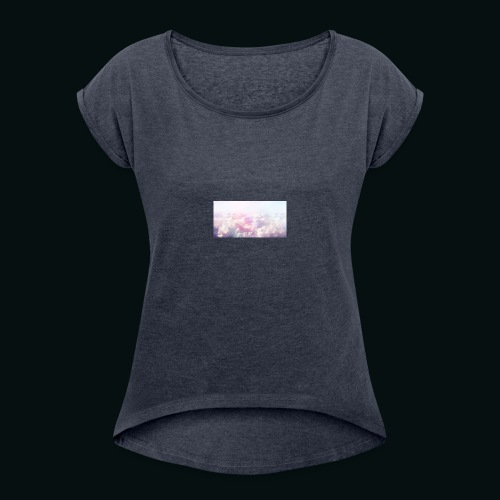 eye in the sky - Women's Roll Cuff T-Shirt