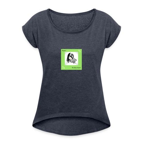 Belle-7- - Women's Roll Cuff T-Shirt