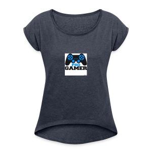 500 F 55017403 udfb4qEzSQjFKfKuSg0tgtmamkmpB4zv - Women's Roll Cuff T-Shirt