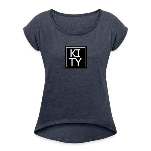 Kity na kvadrat - Women's Roll Cuff T-Shirt