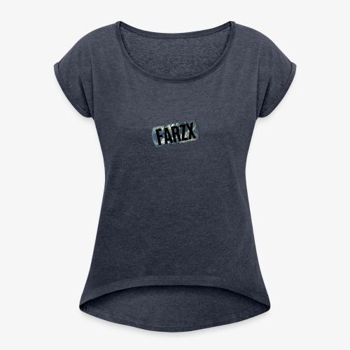 FARZX LOGO PNG - Women's Roll Cuff T-Shirt