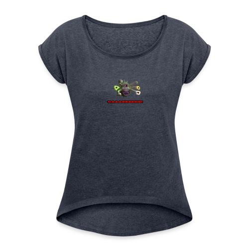 GAAAZZZEEE! - Women's Roll Cuff T-Shirt