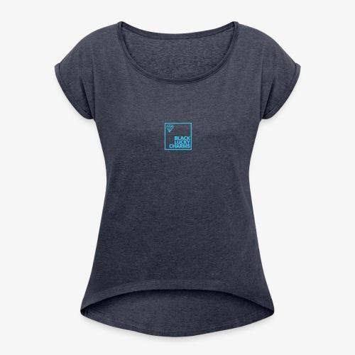 Black luckycharms - Women's Roll Cuff T-Shirt