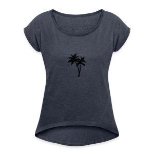 Palmeras - Women's Roll Cuff T-Shirt