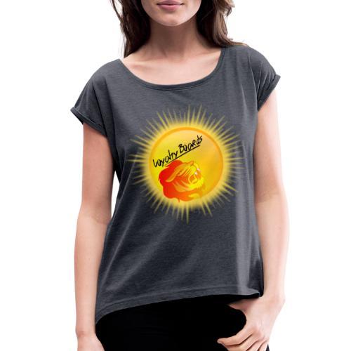 LoyaltyBoardsNewLogo 10000 - Women's Roll Cuff T-Shirt