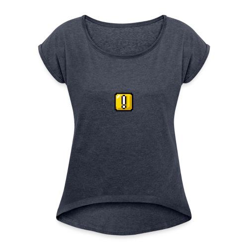 Overstride logo - Women's Roll Cuff T-Shirt
