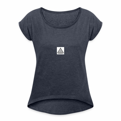 Logo for Design - Women's Roll Cuff T-Shirt