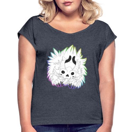 Furry Beasts Logo - Women's Roll Cuff T-Shirt