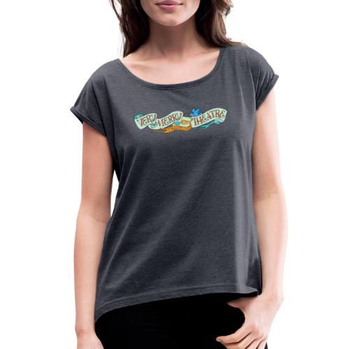 VMT Blue Logo - Women's Roll Cuff T-Shirt