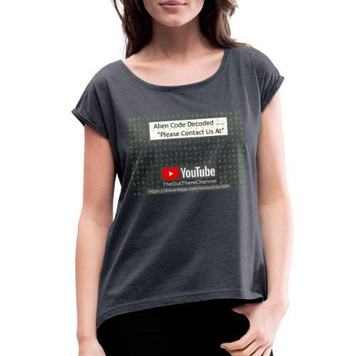 AlienCode v3 TransparentBG2019 - Women's Roll Cuff T-Shirt