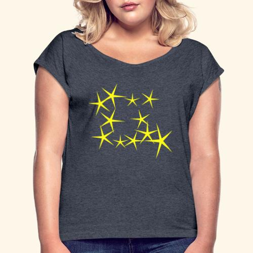 bright stars - Women's Roll Cuff T-Shirt