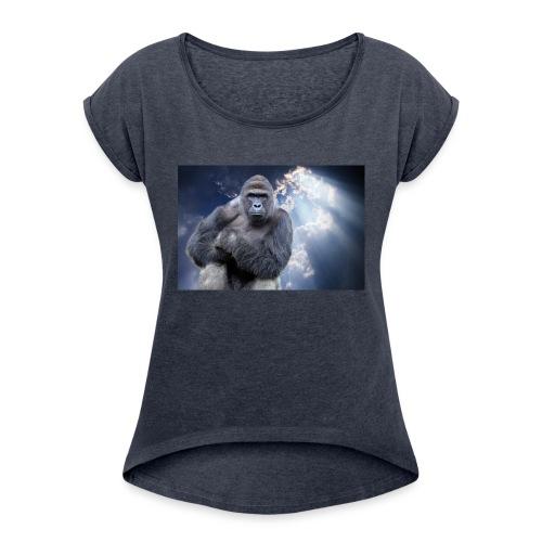 Harambe - Women's Roll Cuff T-Shirt