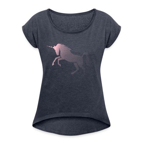 UNICORN1 - Women's Roll Cuff T-Shirt