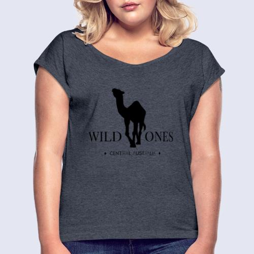 WILD ONES Camel Logo 2 - Women's Roll Cuff T-Shirt