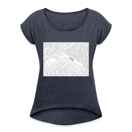 GunLines - Women's Roll Cuff T-Shirt