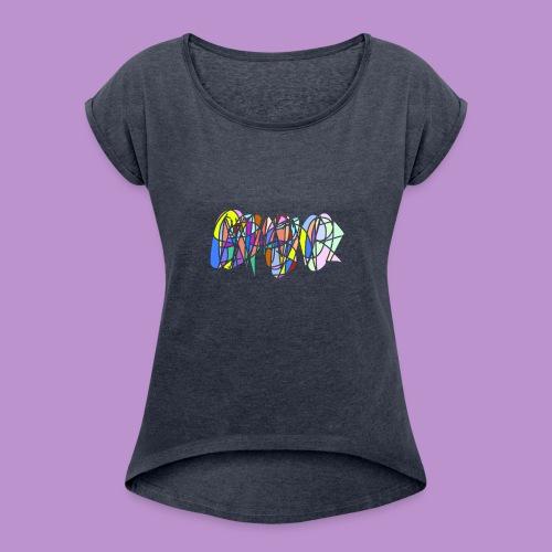 Scribble - Women's Roll Cuff T-Shirt