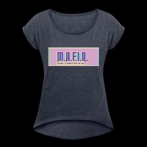 Trippy Mafia Logo - Women's Roll Cuff T-Shirt