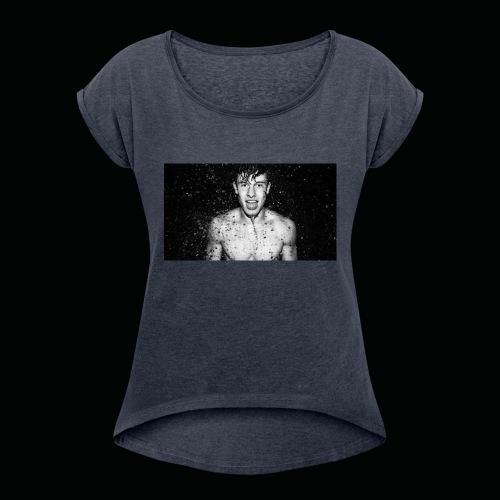 Shirtless Mendes - Women's Roll Cuff T-Shirt