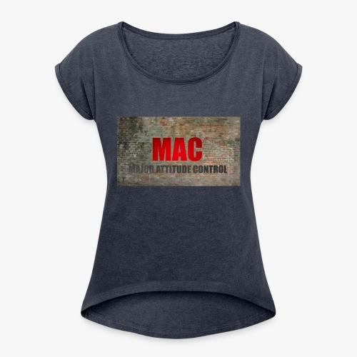 MAC LOGO - Women's Roll Cuff T-Shirt