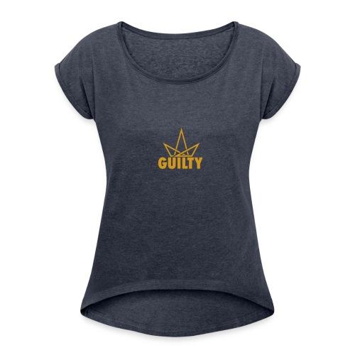 Guilty Logo - Women's Roll Cuff T-Shirt