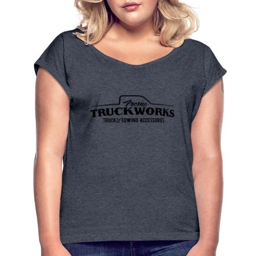 FTW Logo Black - Women's Roll Cuff T-Shirt