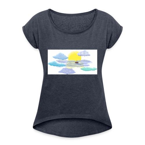 Sea of Clouds - Women's Roll Cuff T-Shirt
