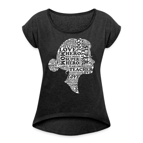 Mother Definition, Teacher Mom, Great Teacher Mom - Women's Roll Cuff T-Shirt
