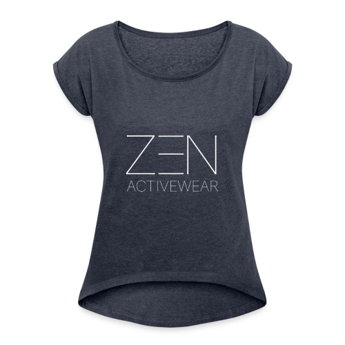 Zen Activewear white 2 - Women's Roll Cuff T-Shirt