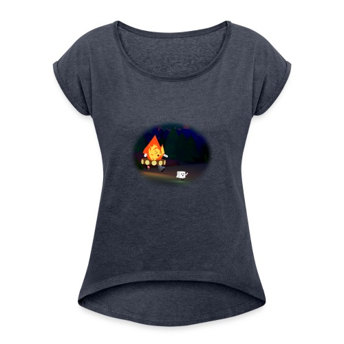 'Round the Campfire - Women's Roll Cuff T-Shirt