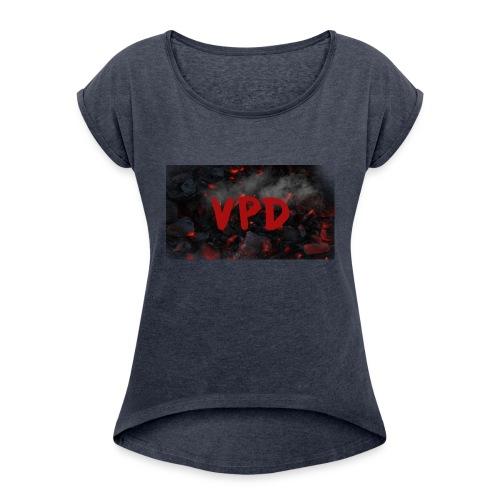VPD Smoke - Women's Roll Cuff T-Shirt