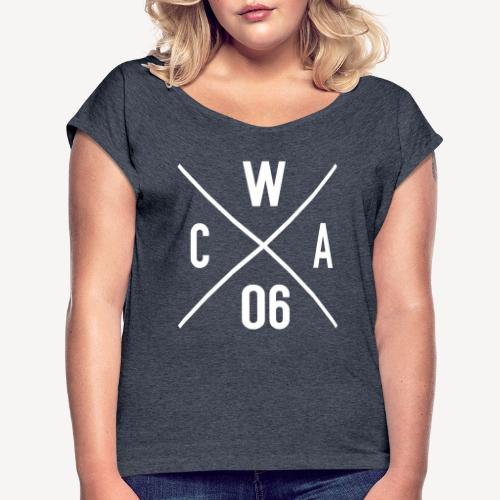CATHOLICS WITH ATTITUDE (EST 2006) - Women's Roll Cuff T-Shirt