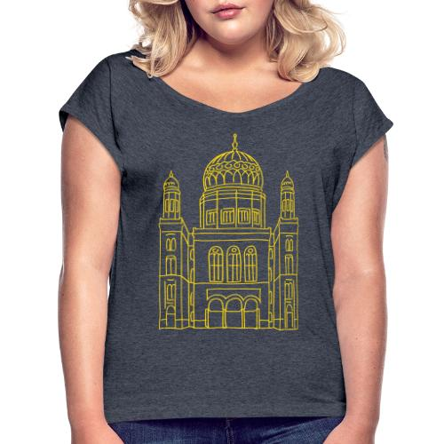 New Synagogue Berlin - Women's Roll Cuff T-Shirt