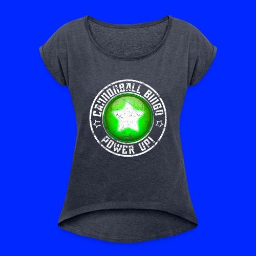 Vintage Power-Up Tee - Women's Roll Cuff T-Shirt