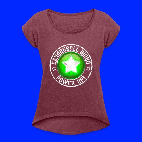 Vintage Power-Up Tee - Women's Roll Cuff T-Shirt
