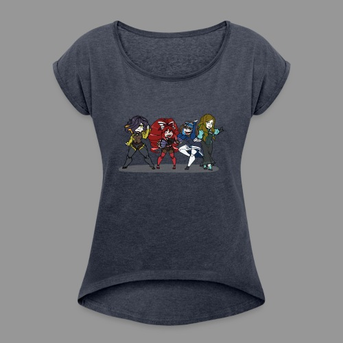 Chibi Autoscorers - Women's Roll Cuff T-Shirt