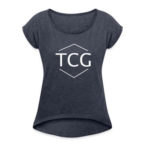 Simple Tcg hoodie - Women's Roll Cuff T-Shirt