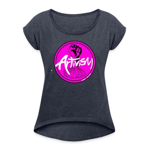 ADT LOGO - Women's Roll Cuff T-Shirt