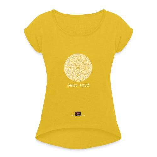 Since 1428 Aztec Design! - Women's Roll Cuff T-Shirt