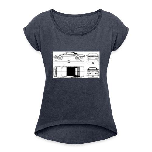 artists rendering - Women's Roll Cuff T-Shirt