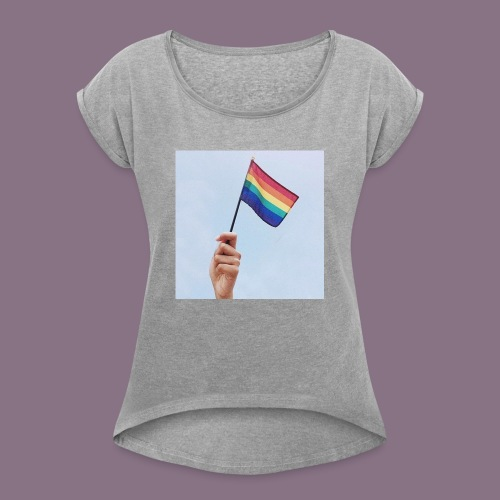 lgbt - Women's Roll Cuff T-Shirt